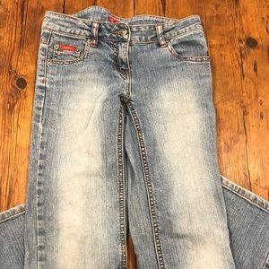 Light wash blue denim jeans